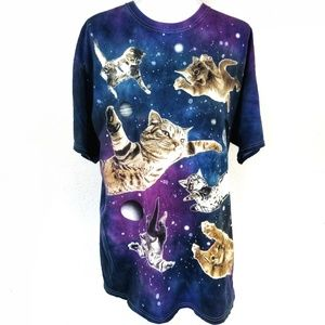 DOM Shirts - 2/$30 DOM Galaxy cosmic outer space kitty cats
